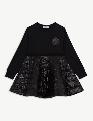MONCLER Quilted puffa dress 4-12 years