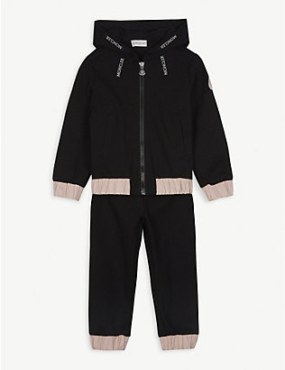 MONCLER: Ruched-trim woven tracksuit 4-14 years