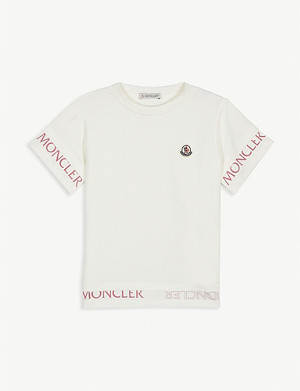 MONCLER Logo stretch-cotton jersey T-shirt 2-16 years
