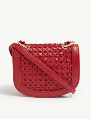 STELLA MCCARTNEY Mini me woven cross-body bag