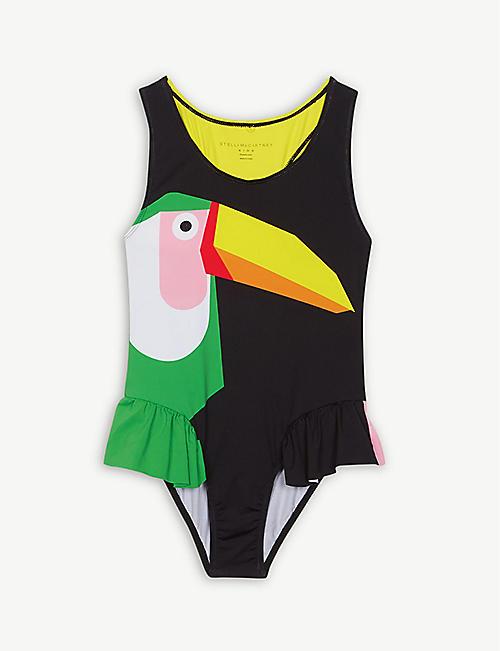 f0f98ce508 STELLA MCCARTNEY Toucan ruffle swimsuit 4-14 years