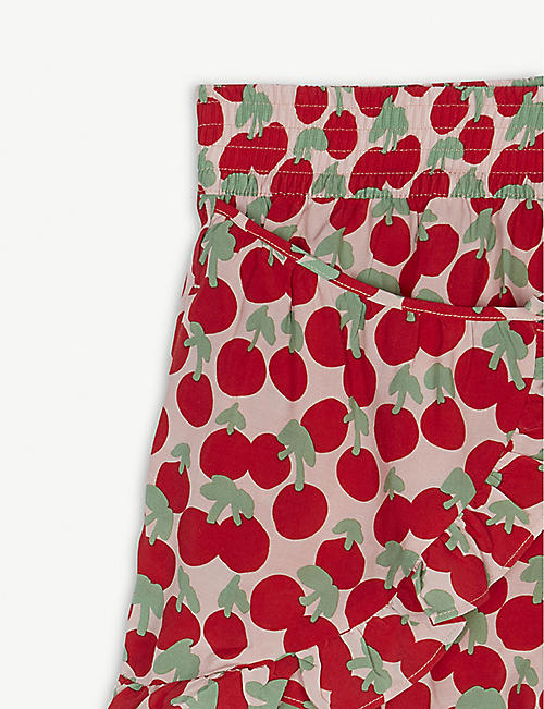STELLA MCCARTNEY Cherry-print ruffle-trim shorts 4-14 years