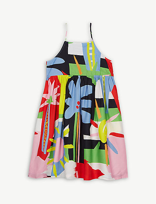STELLA MCCARTNEY Tropical print strap dress 4-16 years