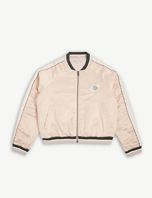 STELLA MCCARTNEY Floral embroidered bomber jacket 4-15 years