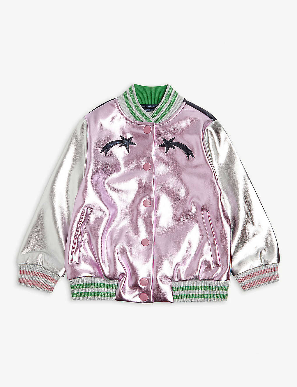 STELLA MCCARTNEY: Metallic mushroom bomber jacket 4-15 years
