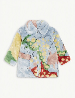 STELLA MCCARTNEY Printed faux-fur coat 4-15 years