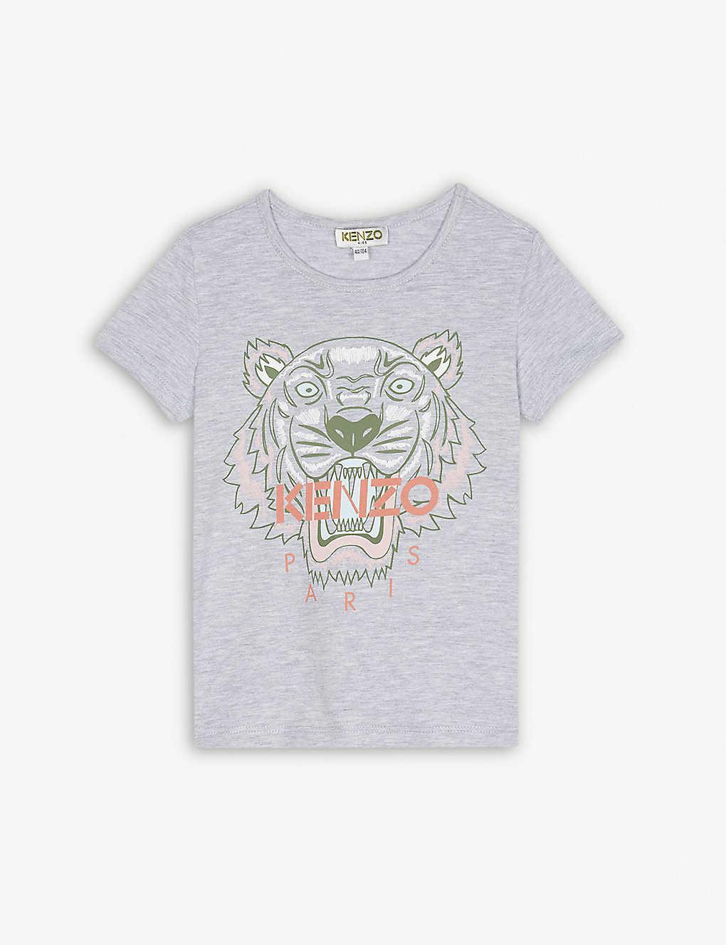 47f9244480e KENZO - Tiger logo cotton-blend T-shirt 4-16 years | Selfridges.com