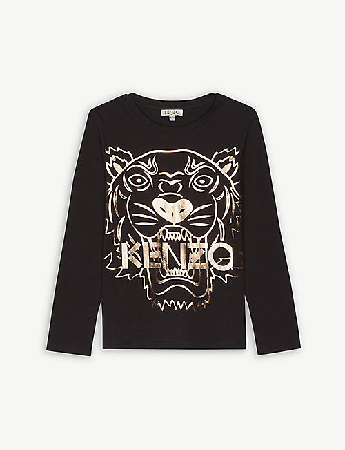 KENZO Tiger cotton-blend jumper 4-16 years