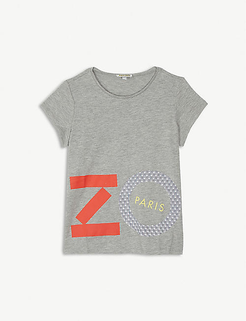 24155e707765 KENZO Logo cotton-blend T-shirt 4-14 years