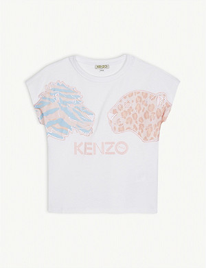 KENZO Tiger And Friends cotton T-shirt 4-14 years