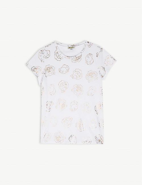 7ca383bb888 KENZO Big cat print cotton T-shirt 4-14 years