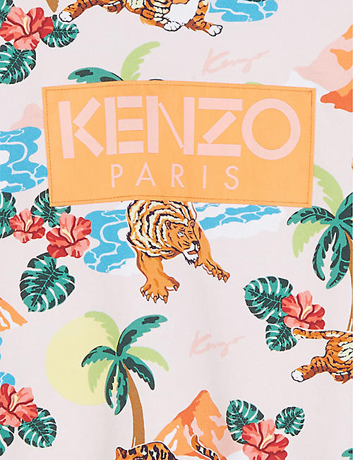 KENZO Hawaii print cotton sweatshirt 4-14 years
