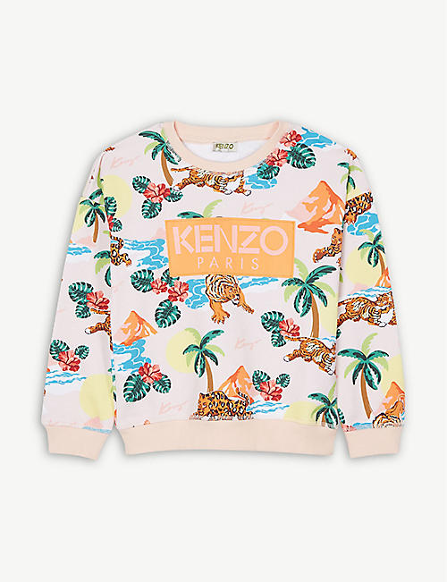 9545cfe1 KENZO Hawaii print cotton sweatshirt 4-14 years