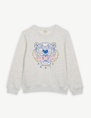 KENZO Tiger logo cotton jumper 4-14 years