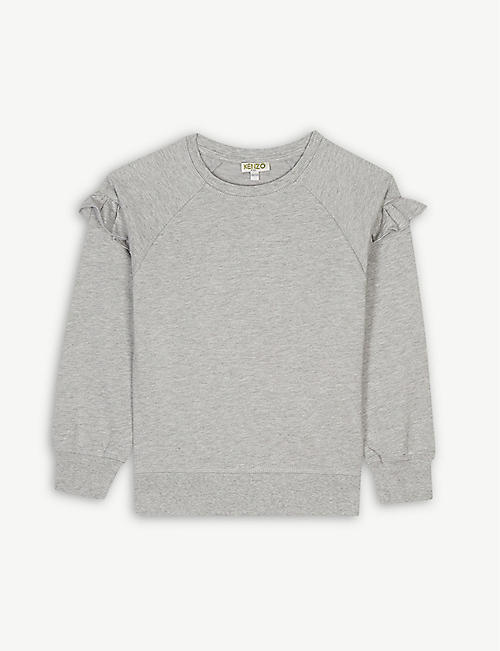 e27e0d0a545 KENZO Logo ruffled cotton jumper 4-14 years