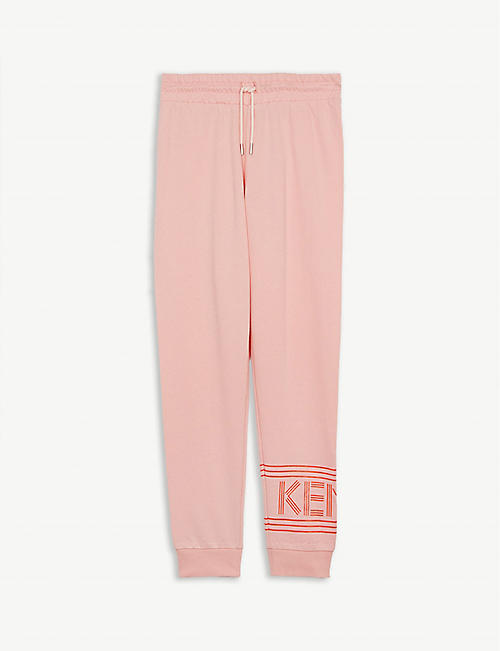 KENZO Logo print cotton jogging bottoms 4-14 years