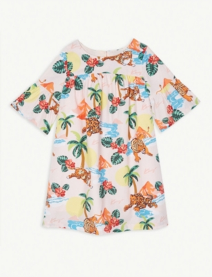 KENZO Hawaii cotton dress (6-14 years)