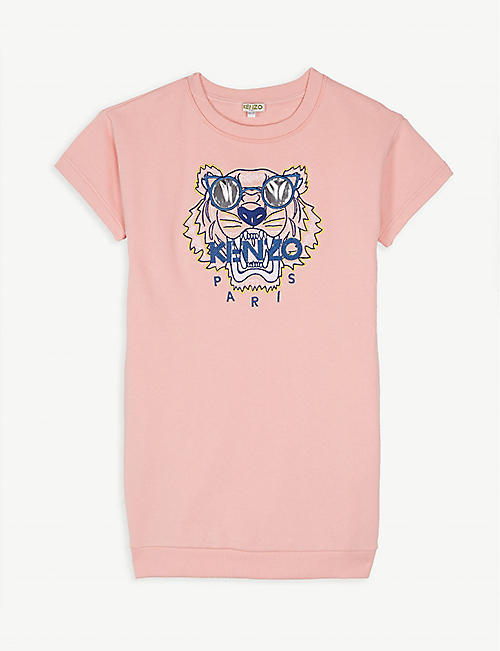 f5f8128327b6 KENZO Tiger logo cotton sweatshirt dress 4-14 years