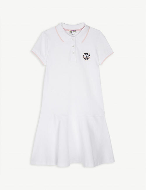 f1808f62c9119 KENZO Tiger head logo cotton polo dress 4-14 years