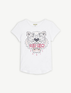 KENZO Tiger logo cotton T-shirt 4-14 years