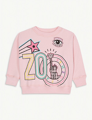 KENZO Super graphic cotton sweatshirt 4-14 years