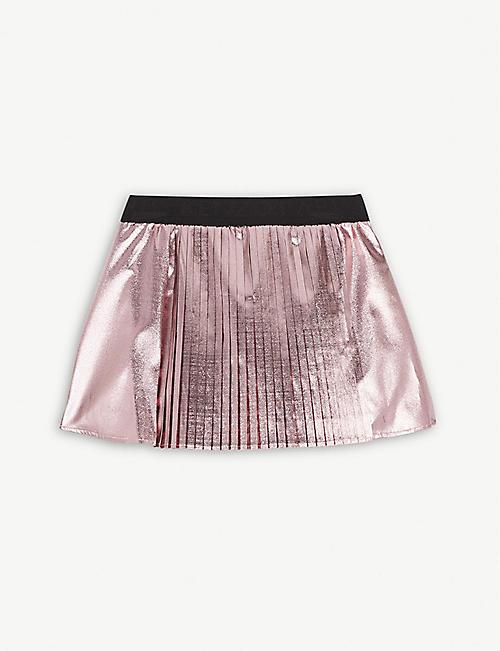 18f15d4bd5c727 KENZO Metallic pleated skirt 4-14 years