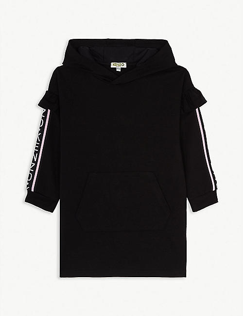 KENZO Tape logo cotton hoody dress 4-14 years