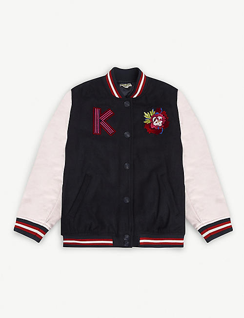 KENZO Embroidered dragon woven bomber jacket 6-14 years