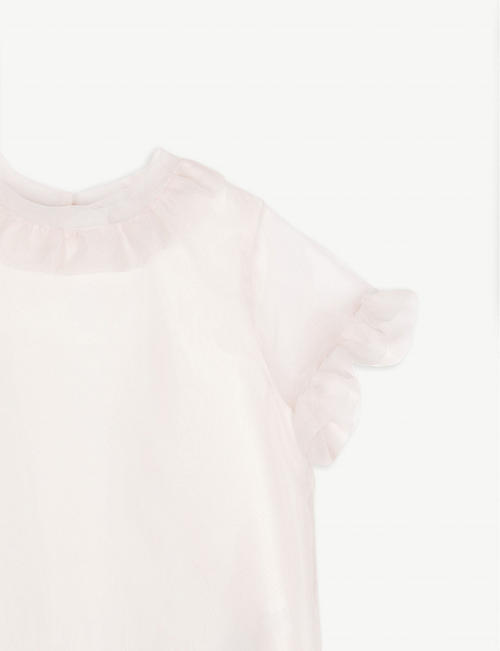 HUCKLEBONES Ruffled chiffon blouse 4-12 years