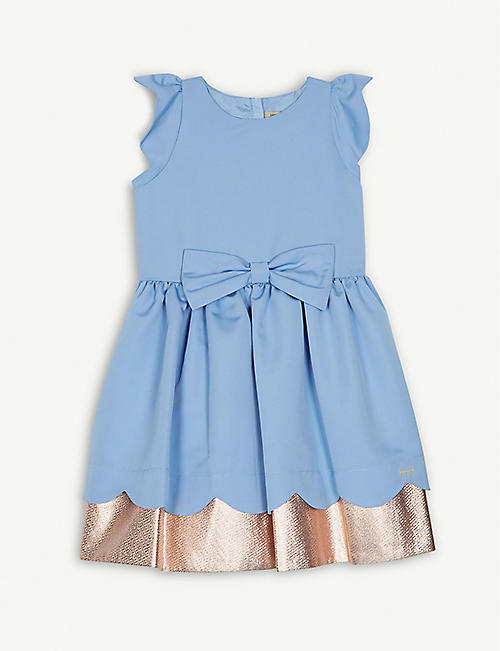 HUCKLEBONES Foil trim bodice dress 4-14 years