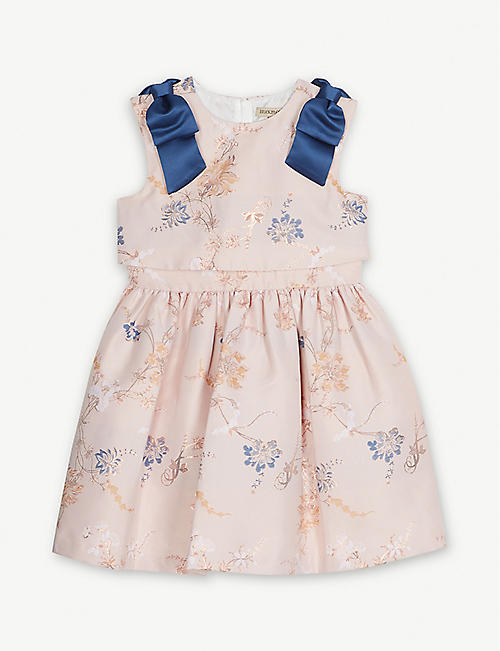 HUCKLEBONES Floral tiered bodice dress 4-12 years