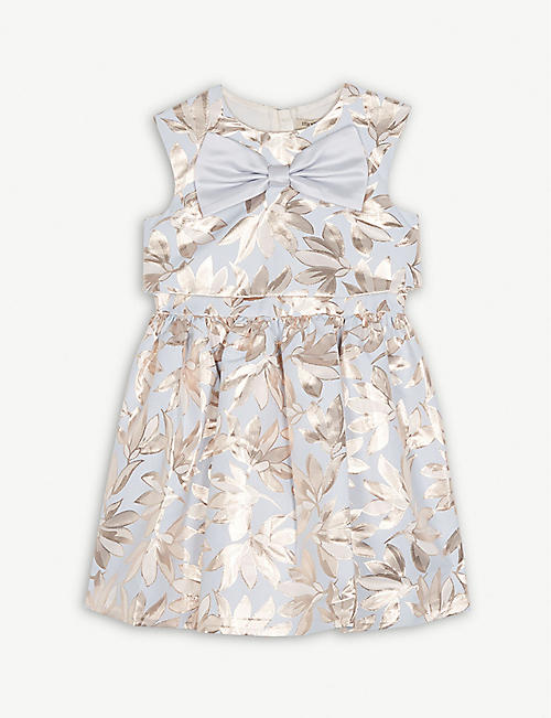 HUCKLEBONES Floral print bow dress 4-10 years
