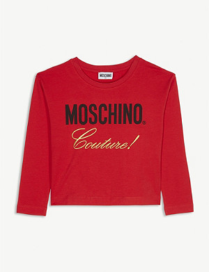 MOSCHINO Courture long sleeve top 4-14 years