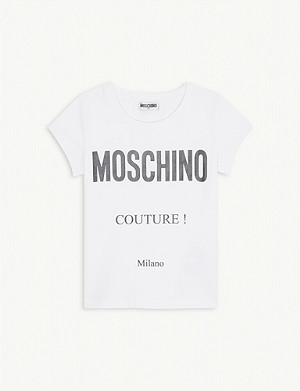 MOSCHINO Couture! cotton-blend T-shirt 4-14 years