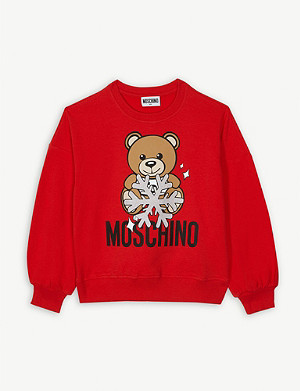 MOSCHINO Snowflake teddy cotton-blend jumper 4-14 years