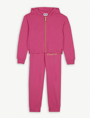 MOSCHINO Couture logo cotton-blend tracksuit 4-14 years