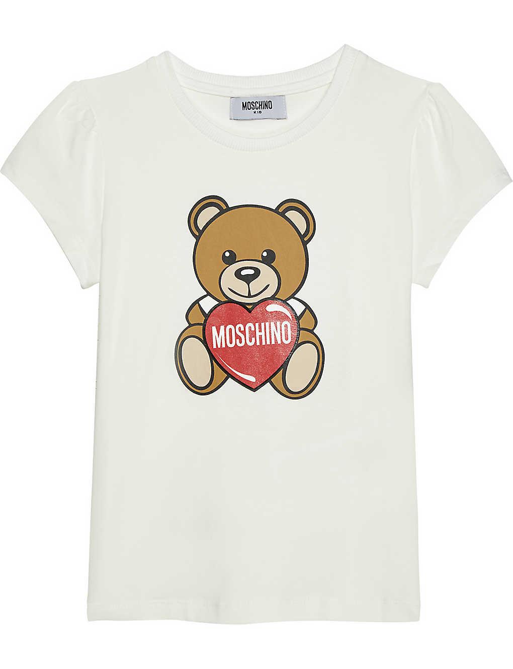 7f8ed5037f3 MOSCHINO - Toy Bear cotton T-shirt 4-14 years | Selfridges.com