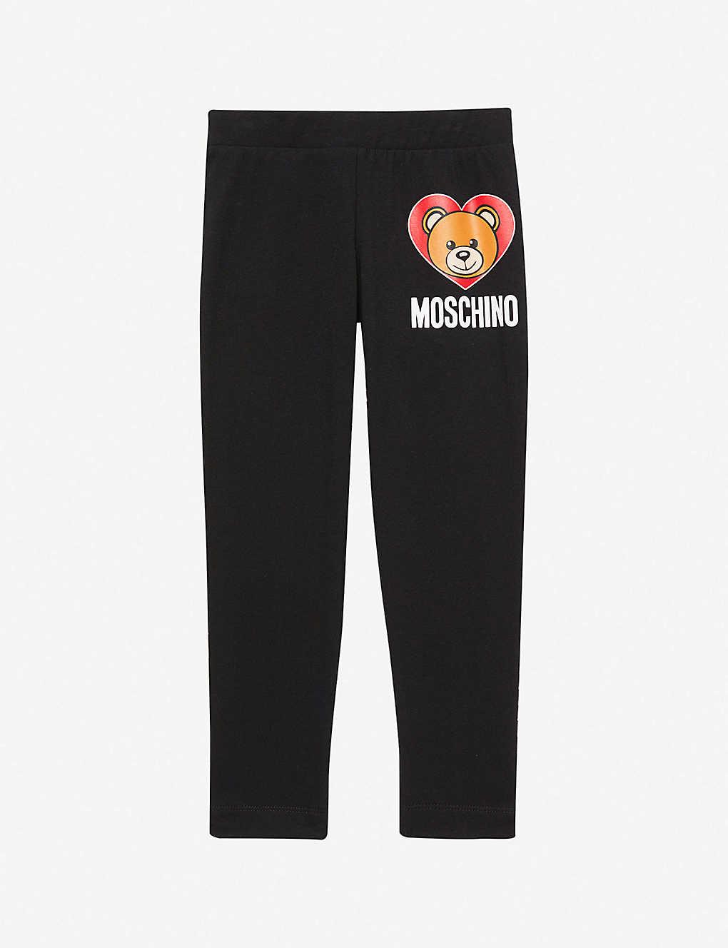 b87ef29cef1ea MOSCHINO - Logo-print stretch-jersey leggings 4-14 years ...