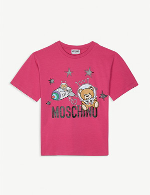 MOSCHINO Space teddies cotton-blend T-shirt 4-14 years
