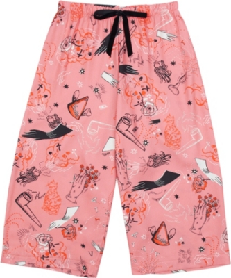 VIVETTA Surreal-print twill trousers 4-14 years