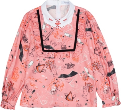 VIVETTA Surreal-print twill blouse 4-14 years
