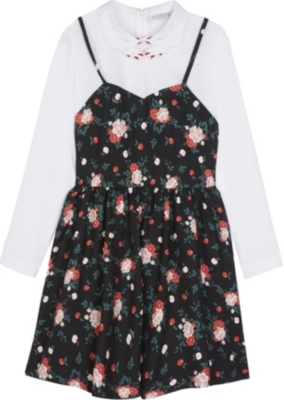 VIVETTA Hands collar two-in-one dress 4-14 years