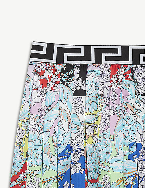 VERSACE Floral silk skirt 8-14 years