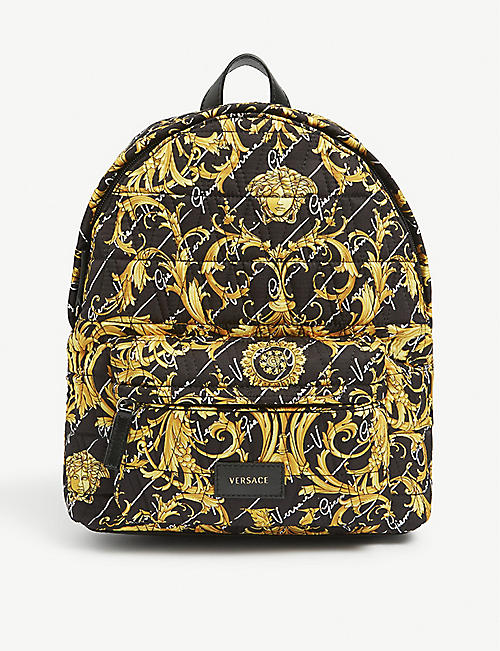 VERSACE Kids large baroque backpack