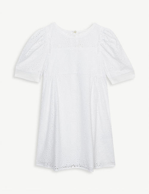 CHLOE Broderie anglaise cotton dress 6-36 months