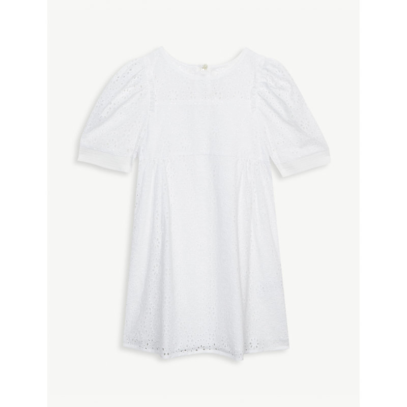 CHLOÉ | Broderie Anglaise Cotton Dress 6-36 Months | Goxip