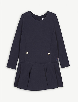 CHLOE Milano fit-and-flare cotton-blend dress 4-14 years
