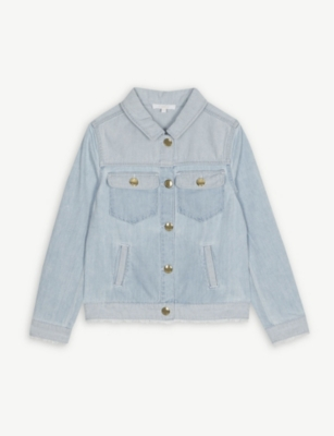 CHLOE Frayed hem denim jacket 4-14 years