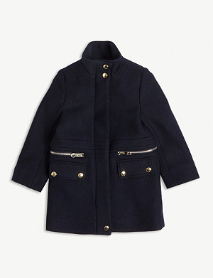 CHLOE Longline wool-blend coat 4-14 years