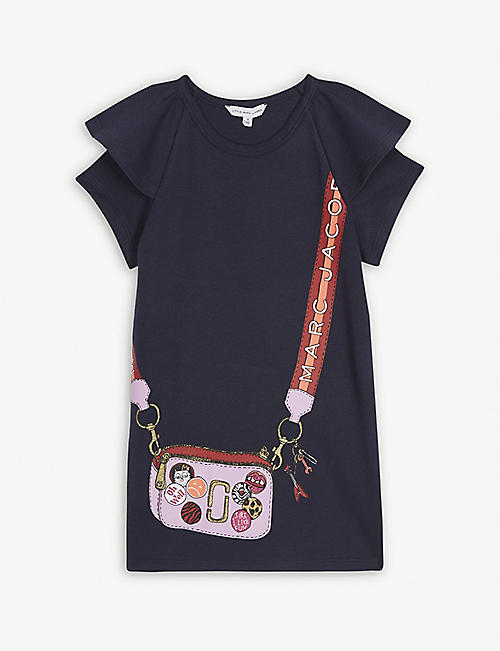 LITTLE MARC Snapshot bag print T-shirt dress 4-14 years